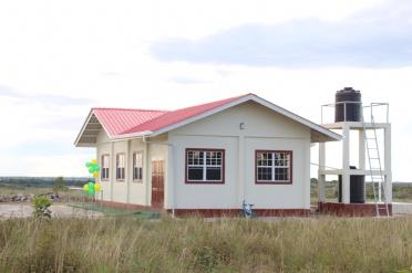 The recently commissioned multi-purpose building in Hiawa.