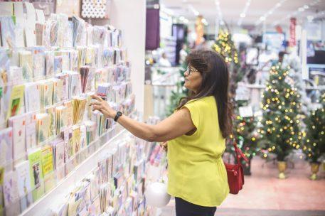 Customer, Bernadette shopping