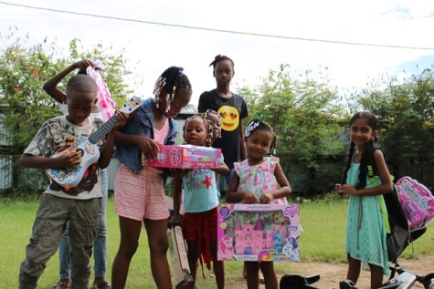 Scenes from the gift distribution exercise