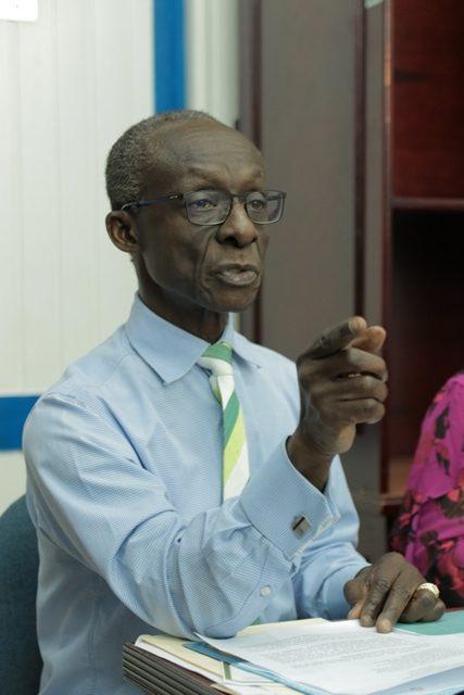 PAHO/WHO Country Representative, Dr. William Adu-Krow