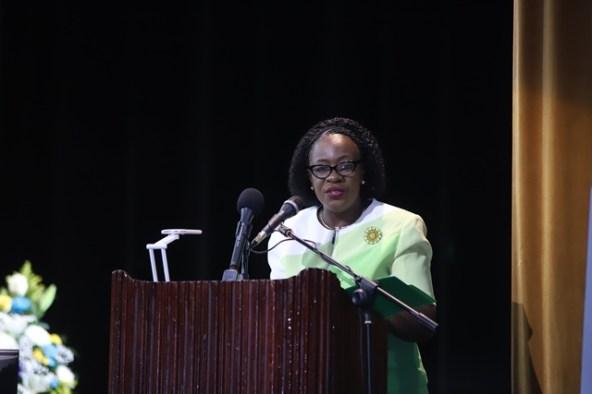 Minister of Education the Honourable Dr. Nicolette Henry