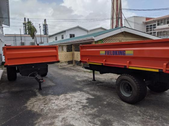 Trailers that were handed over to the Bartica Municipality