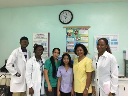 (from left) Dr Smith, Dr. London, Dr. Chavez, Dr. Lynch and Cuban Gynecologists Dr. Marlenis Esteris Plutin and Dr. Yanara Salas.