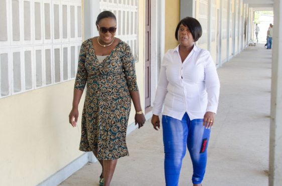 Minister of Education Dr. Nicolette Henry with the Headteacher of Sophia Primary School