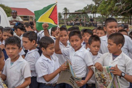 Aishalton Primary School students.