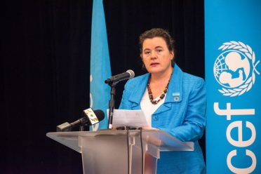 UNICEF's Guyana and Suriname Country Rep., Sylvie Fouet