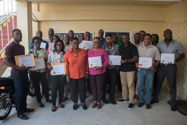 Participants of the FPSO training exercise sponsored by the International Labour Organization, in collaboration with the Department of Energy.