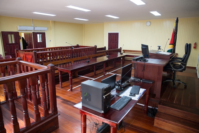 One of the courtrooms at the facility.