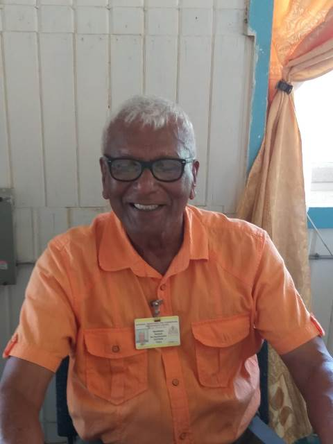 Site Supervisor Haribhajan Persaud.