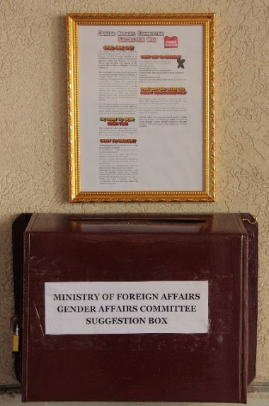 The Gender Affairs Committee Suggestion Box.