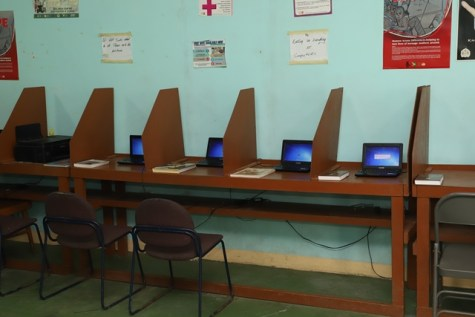 Some of the laptops distributed by the Ministry of Public Telecommunications.