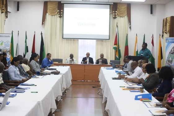 Senior staffers of the Ministry of Communities during the annual conference.