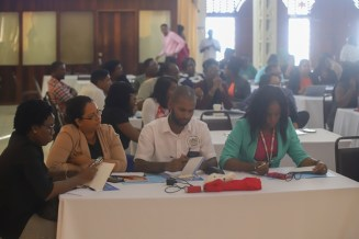 Some of the stakeholders who were engaged in the launching of consultations to draft the strategic plan.