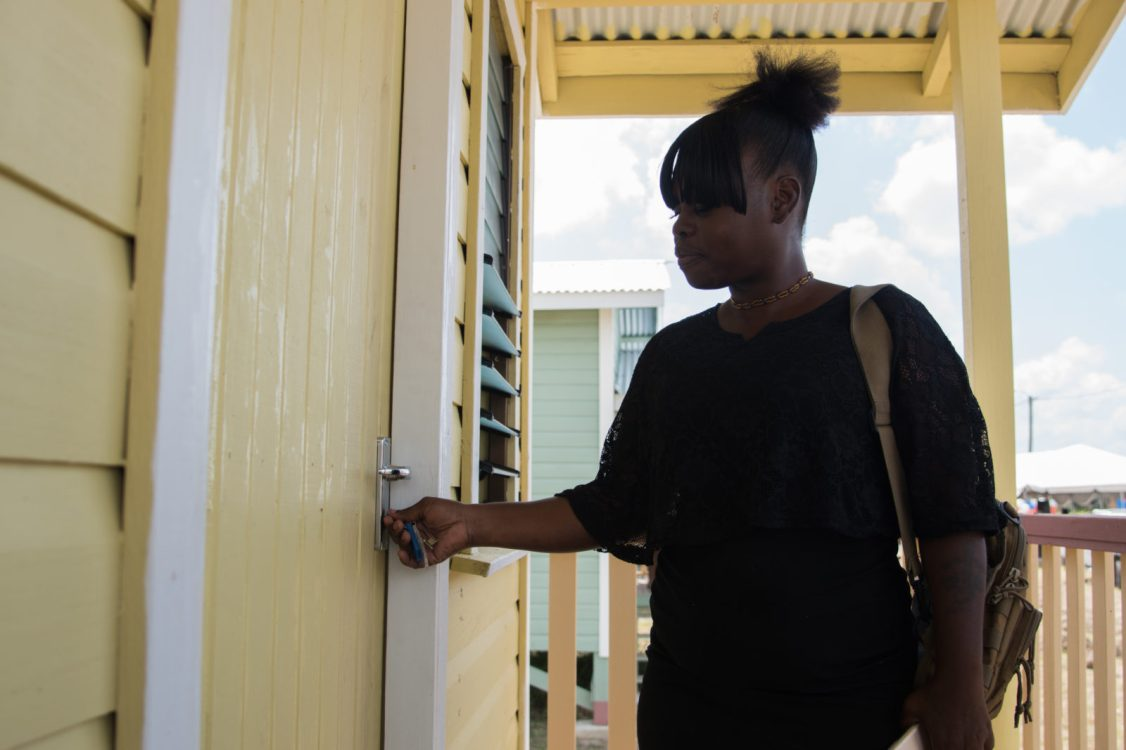 Onica Brammer turning the keys to her new home