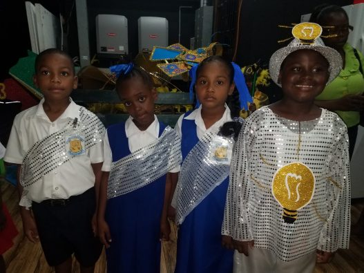 Some of the young contestants who participated in the calypso and dramatic poetry categories on Day 2 of the Mashramani Competitions