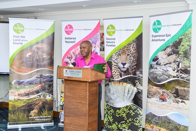Donald Sinclair, Director General of the Department of Tourism.