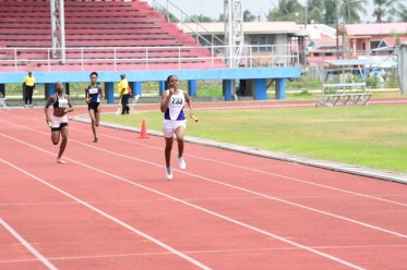 Scenes during the Guyana 50th Republic Anniversary Relay Festival at the Leonora Track and Field Centre.