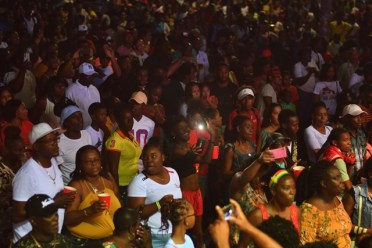 A section of the audience at the 2020 Soca Monarch semi-finals in Linden.
