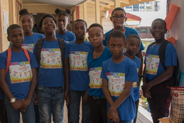 Some of the students at the Transition Camp in 2019.