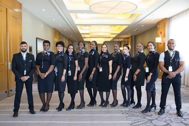 Eastern Airlines flight Guyanese attendants.