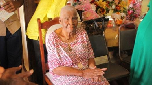 Centenarian and Retired Headteacher, Mrs. Pearl Gravesande.