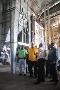 Minister of Agriculture, the Hon. Noel Holder touring the facility on Wednesday.