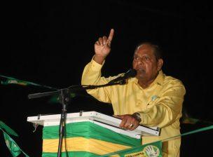Prime Minister Hon. Moses Nagamootoo addressing residents of Blairmont