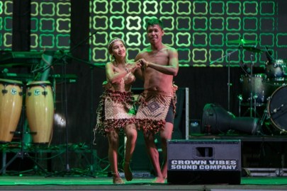 Scenes from the stage show at the Guyana Folk festival.
