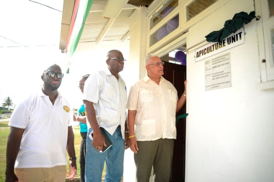 Hon. Noel Holder, Minister of Agriculture commissioned GLDA Animal Nutrition Laboratory.