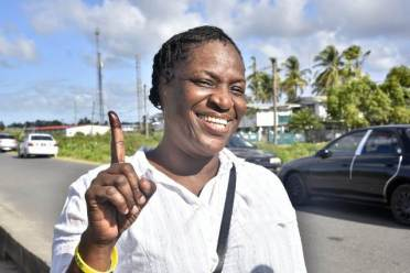 Yonette Beckles of Mount Sinai cast her ballot on Election Day.