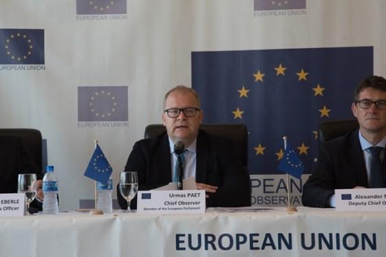 EU EOM Chief Observer Urmas Paet.