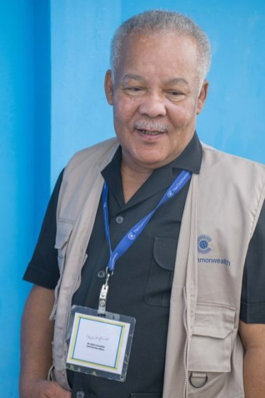 Chairman of the Commonwealth Observer Group and former Prime Minister of Barbados Owen Arthur.