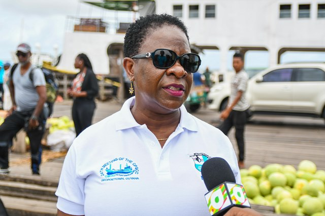 Director General of the Maritime Administration Department, Claudette Rogers.