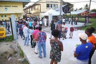 voters queued at Supply Primary School.