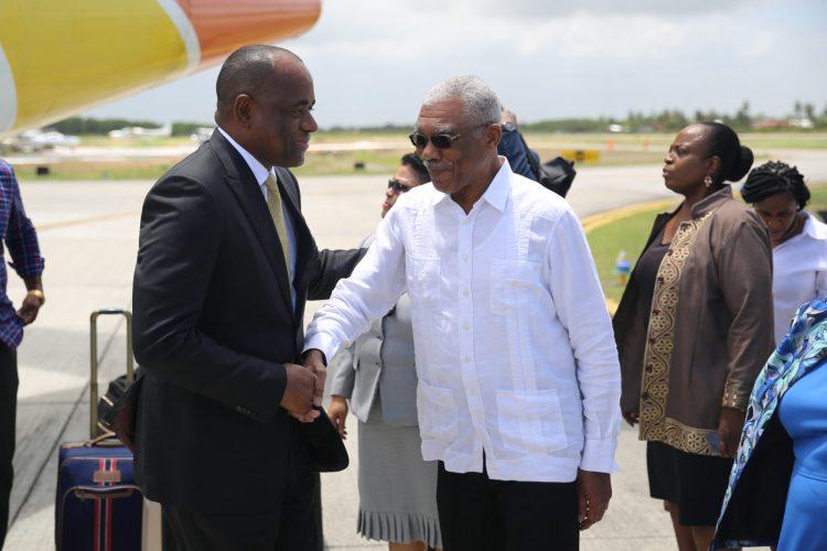 HE President David Granger & PM of Dominica, the Hon. Roosevelt Skerrit.