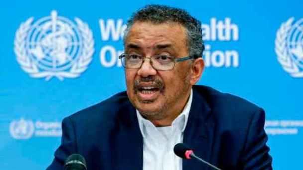 Director General of the World Health Organisation Dr. Tedros Adhanom Ghebreyesus.