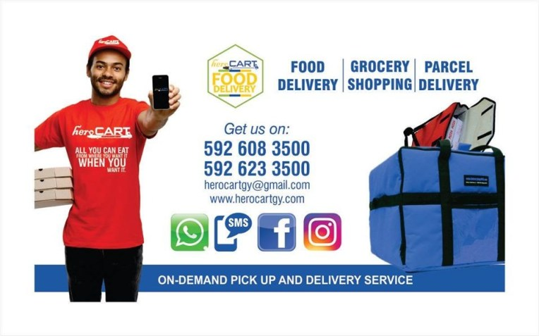 One of HeroCart's advertisement promoting their delivery service