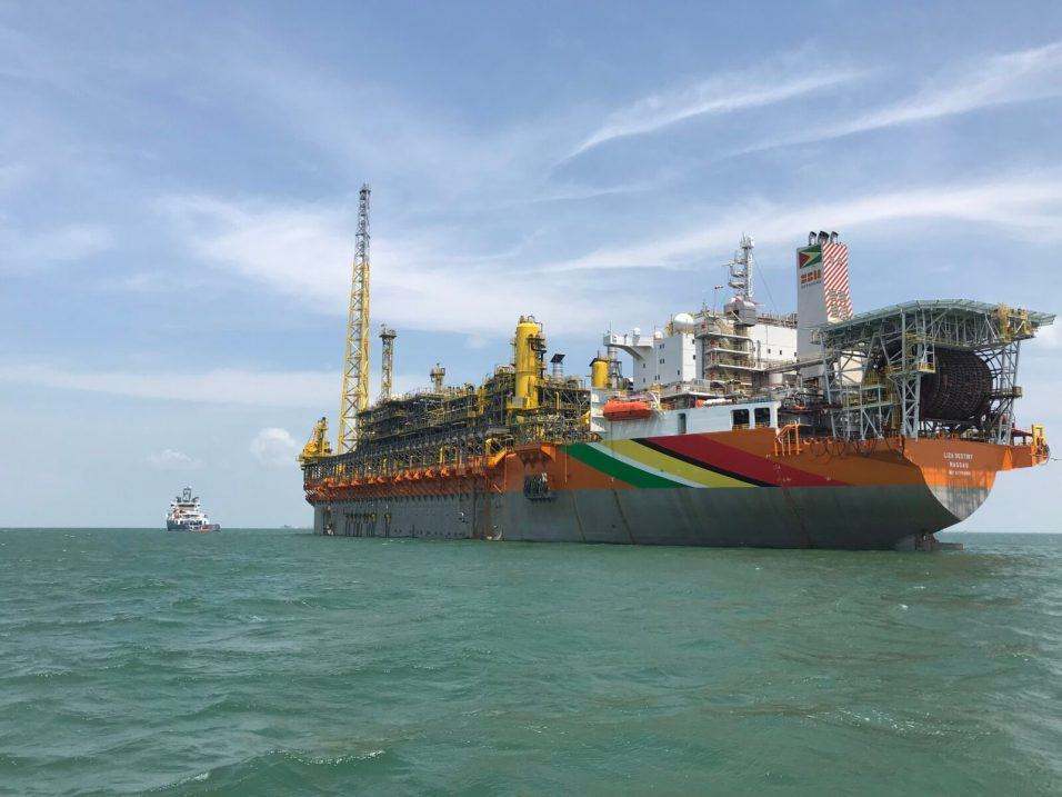 The FPSO Liza Destiny offshore Guyana