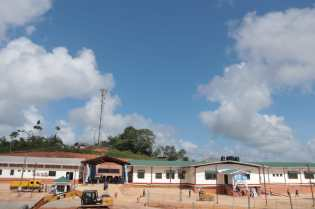 A wide view of the newly commissioned Port Kaituma District Hospital