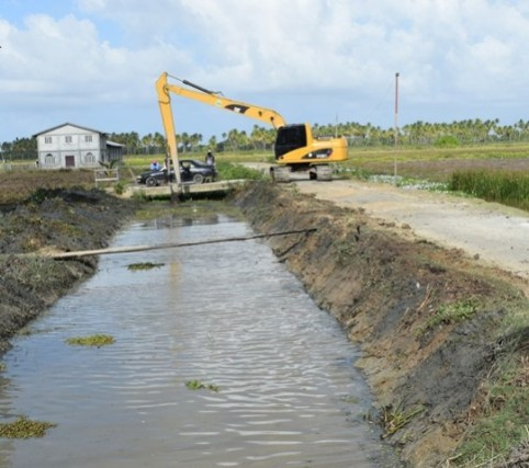 Residential drainage improvements at Union II, Region Five; Mahaica/Berbice in 2019