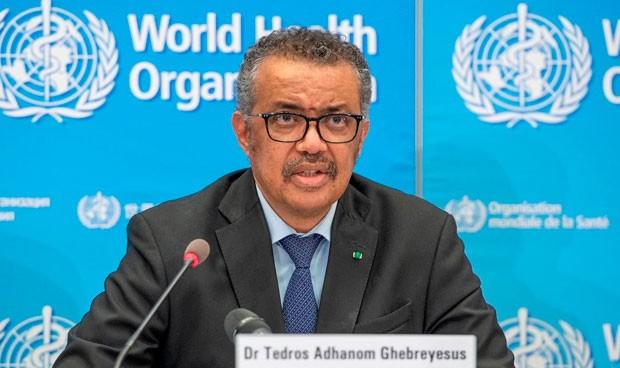 WHO's Director-General, Dr. Tedros Adhanom Ghebreyesus