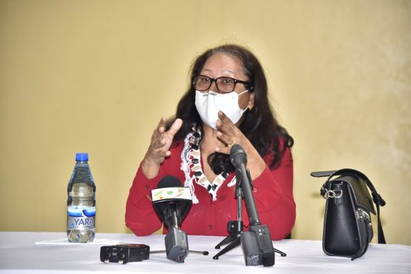 Minister of Amerindian Affairs, Hon. Pauline Sukhai.