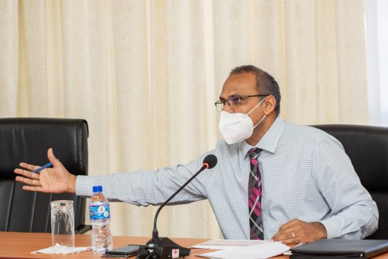 Minister of Health, Hon. Dr. Frank Anthony.