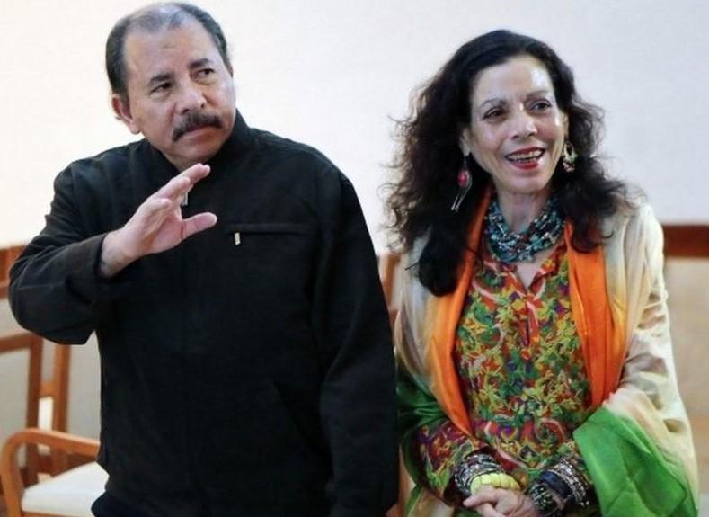 President of Nicaragua Daniel Ortega and First Lady Rosario Murillo