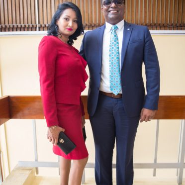 GECOM Commissioner, Sase Gunraj and his wife