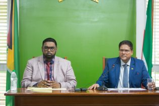 President of the Cooperative Republic of Guyana, His Excellency, Mohamed Irfaan Ali, and President of Suriname, His Excellency, Chandrikapersad Santokhi