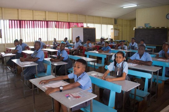Students sitting the National Grade Six Assessment in April, 2019