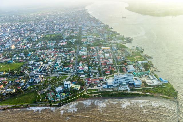 Aerial shot of Georgetown