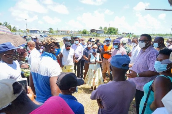President Ali's meeting with the Paradise/Belladrum community followed his visit to the relatives of slain teenagers Haresh Singh, Joel Henry and Isaiah Henry in Number Three Village and the family of Prittipaul Hargobin who was also killed during the protest action that erupted along the West Coast Berbice corridor.