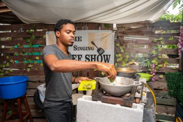 This patron participates in making Seven Curry as The Pergola